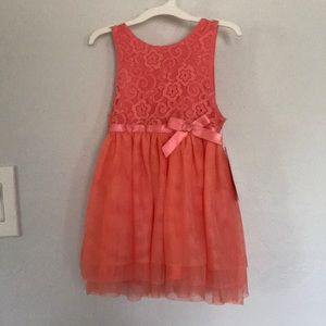 Cat & Jack Baby Girl Dress - Coral 12-18M